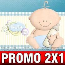 Kit Imprimible Baby Shower Nene Diseñá Tarjetas 2x1