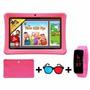 Tablet Para Niños Silver Max St720k Con Obsequios