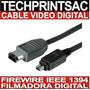 Cable Datos Video Filmadora Digital Firewire 4 X 6 Y 4 X 4