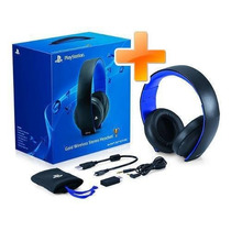 Headset Gold 7.1 Wireless Stereo Sony Pc Ps3 Ps4 - Original