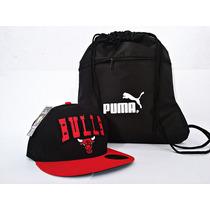 Boné Chicago Bulls Snapback E Molchila -kit