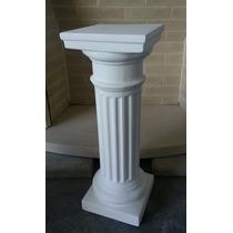 Columna De Yeso Dorica Fina 60cm De Altura Pedestal Pie Mesa