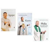 Kit Livros Padre Marcelo Rossi Ágape + Kairós + Philia