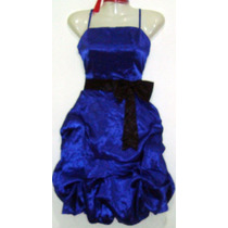 Vestido Fiesta Aglobado Rojo Y Azul Nuevo Talla M