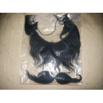 Gcg Barbas Y Bigotes Color Negro 22 Y 15 Centimetros Disfraz