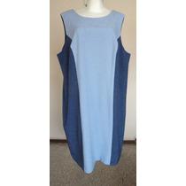 Vestido Azul Corte Clásico Talla-22w Dress Savvy!! Vst917