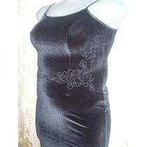 Vestido Fiesta Terciopelo Negro Talla Extra 13 Mex Nuevo