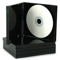 Estuche Para Cds - Simples Con Folio - Color Negro-x 50u.