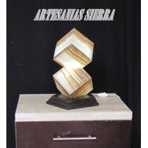 Lámpara De Onix 2 Cubos, 41cms De Altura Envío Gratis