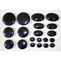 Set Juego De Piedras De Masaje De Obsidiana Negra