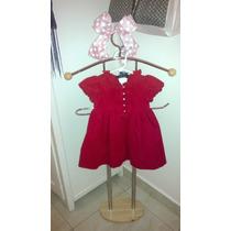 Vestido De Niña 18meses Pana Ralph Lauren. Color Rojo