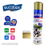 Tinta Spray Cor Dourado Brilhante 400ml Eucatex - Kit 6 Pçs
