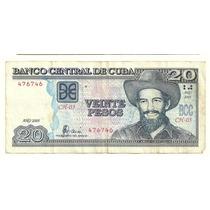 Billete Cuba 20 Pesos (2005) Camilo Cienfuegos