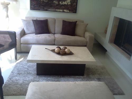 Mesa de centro marmol beige 3 en mercado libre for Con que se limpia el marmol