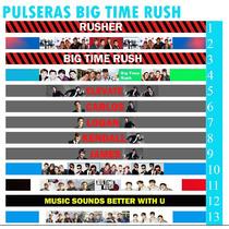 10 Pulseras Para Amarrar Big Time Rush, Btr, Carlos, James