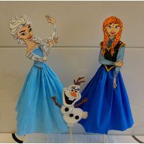 Frozen Centros De Torta En Goma Eva