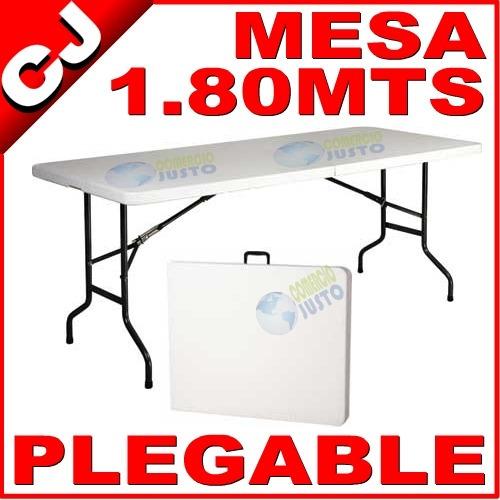 Mesa plegable 180 portafolio plastico termofusionado for Mesa plegable plastico