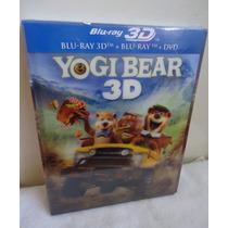 Pelicula El Oso Yogui En Blu-ray 3d + Blu-ray + Dvd