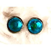 Aros En Cristales Swarovski 7mm En Base De Acero Quirurgico