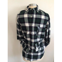 Gap Slim Fit Camisa Masculina Xadrez