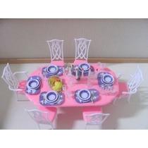 Barbie Tamaño Dollhouse Muebles- Gloria Comedor