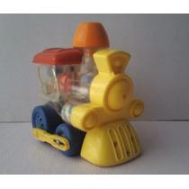 Maquinita De Cuerda - Juguete Antiguo De Plastico Vintage