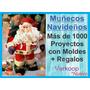 Kit Moldes De 1000 Peluches Muñecos Navideños En Español Pe
