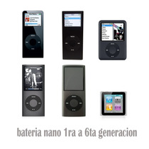 Bateria Para Ipod Nano 1 2 3 4 5 Generacion