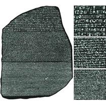 Réplica De Piedra Rosetta Regalo Original Egipto Arte Único