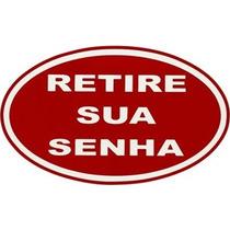 Tapete Capacho Personalizado Formato Oval Retire Senha 80x40