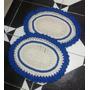 Jogo De 2 Tapetes De Crochê Para Sala, Cozinha, Banheiro