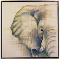 Cuadro Elefante Acrílico Sobre Lienzo Decoración Moderno