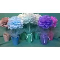 Arbol Topiario X 3u. En Flores De Papel - Eventos/ Souvenir