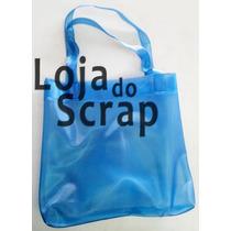 Sacola Plastica Azul Transparente - Eco Bag Reutilizavel