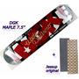 Shape Skate Dgk Maple 7.5 + Lixa Importada Jessup Original