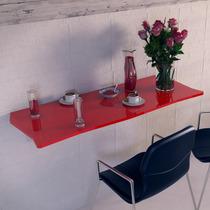 Mesa Dobrável Suspensa Para Cozinha Em Mdf 110 Cm Vermelho