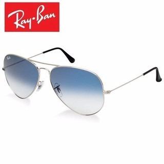 gafas ray ban aviator plateadas