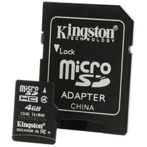 Memoria Micro Sd Kingston 4 Gb Clase 4 Sd Hc Stylemark
