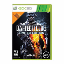 Xbox 360 - Battlefield 3 Limited Edition Bf3 - Mídia Física