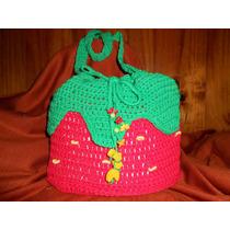 Bandolera A Crochet Simil Frutilla
