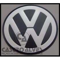 Emblema Volkswagen Aluminio Auto Colante P/ Calota Roda 90mm