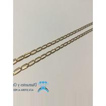 Cadena Inglesa Unisex En Oro Amarillo De 14 K Muy Llamativa