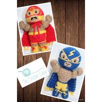 Muñecos Amigurumi Tejidos Intensamente Luchadores Navidad
