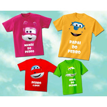 Kit Familia Camisetas Personalizadas Super Wings