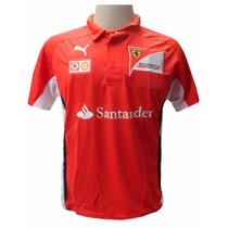 Camisa Polo Puma Ferrari Vermelha E Branca