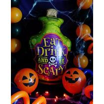 Halloween Globo Metálico Botella De Veneno 28 Pulgadas