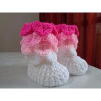 Botitas De Bebés Tejidas A Crochet