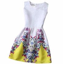 Vestido Floral Sem Mangas - Importado! Frete Fixo! Promoção!