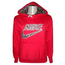 Blusa Nike Feminina Moletom Oncinha Casaco Jaqueta Vermelha