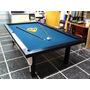 Mesa De Pool Profesional 2.40mt Mdf Negro Laquead + Kit Accs